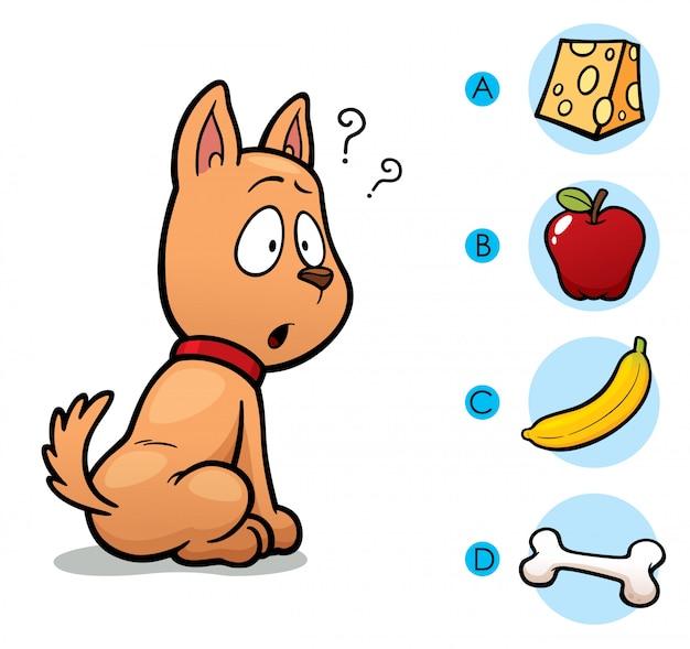 Fai la scelta giusta collega l'animale al cibo