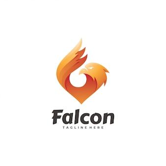 Falcon eagle hawk wing logo