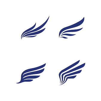 Falcon wings logo template icona logo design app