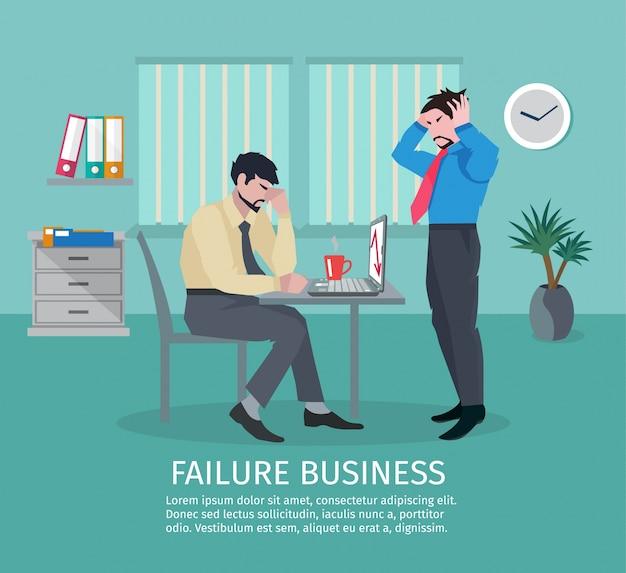 Fallimento, affari, concetto