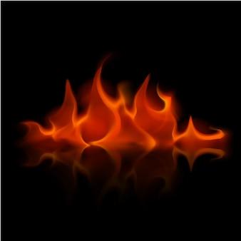 Falò della fiamma del fuoco rosso di vettore