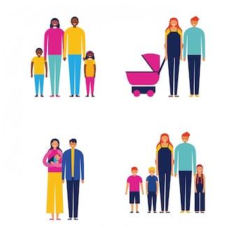 Famiglia all'aperto insieme