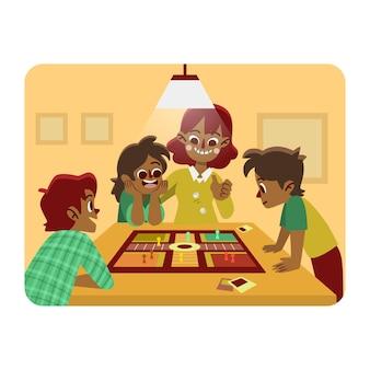 Famiglia che gode del tempo insieme