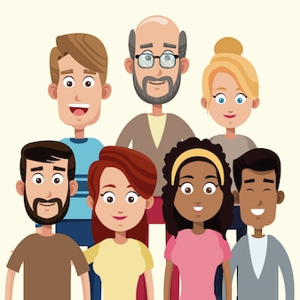 Famiglia di membri della gente del gruppo