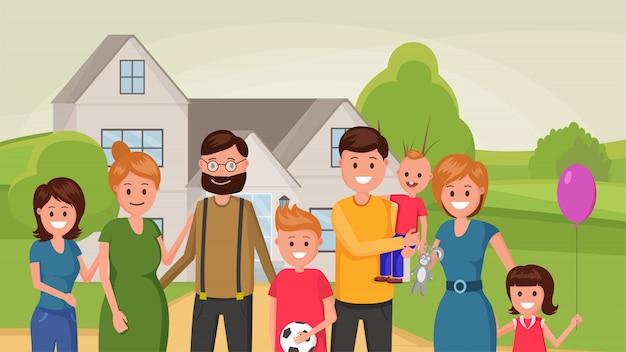 Famiglia felice appartamento