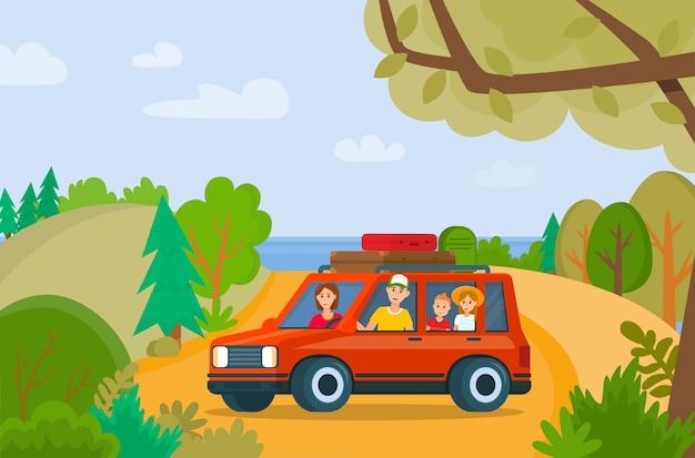 Famiglia itinerante in vacanza