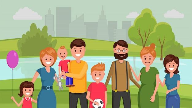 Famiglia nel parco