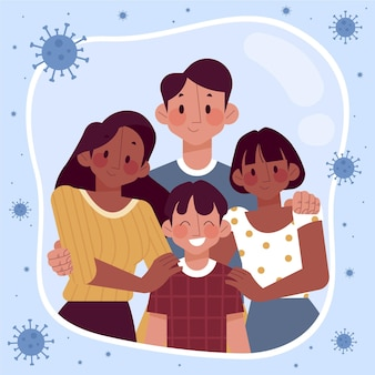 Famiglia protetta dal virus