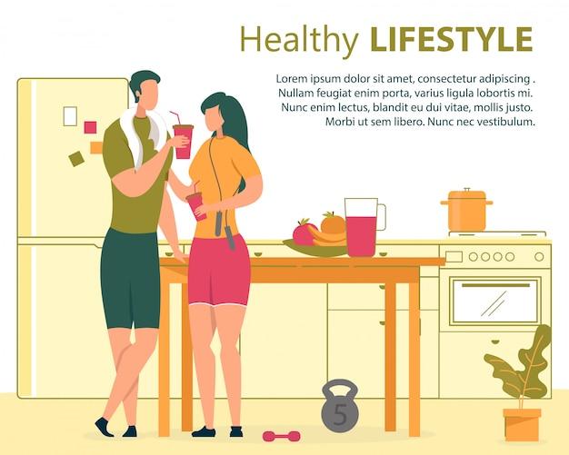 Famiglia stile di vita sano piatto