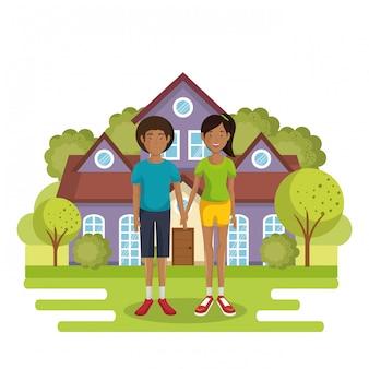 Familiari al di fuori della casa