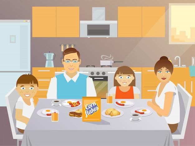 Family breakfast flat