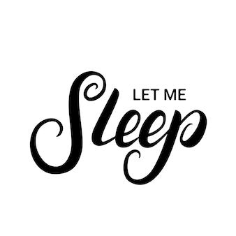 Fammi dormire lettere scritte a mano
