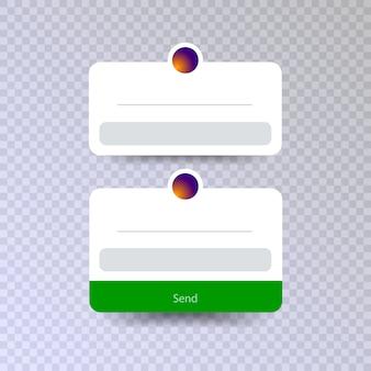 Fammi una domanda vettore di progettazione dell'interfaccia utente isolato