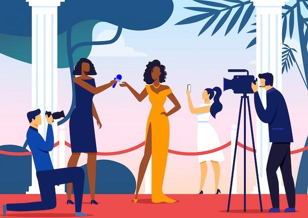 Famosa intervista alle celebrità