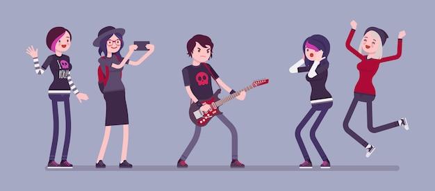 Famoso banner di rockstar e fan