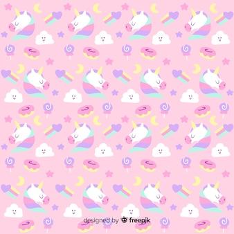Fantasia a mano unicorno fantasia
