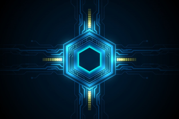 Fantasia futuristica esagonale