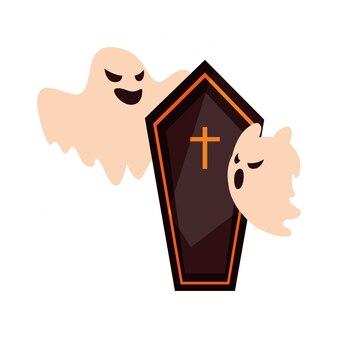 Fantasmi felice festa di halloween