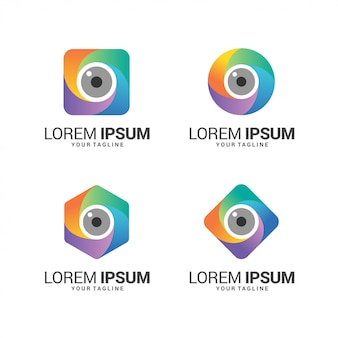 Fantastica collezione di logo per obiettivo fotografico