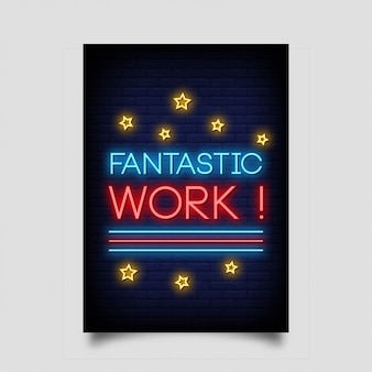 Fantastica opera di poster in stile neon.