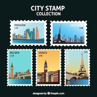 Fantastica selezione di grandi francobolli della città