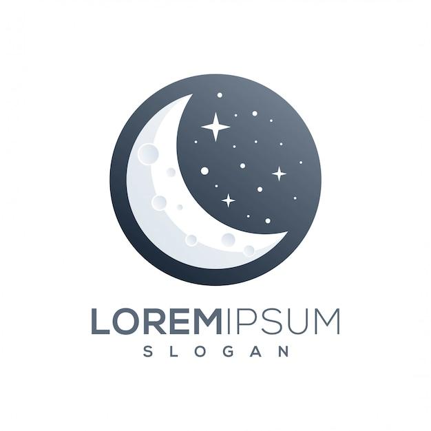 Fantastico design del logo della luna