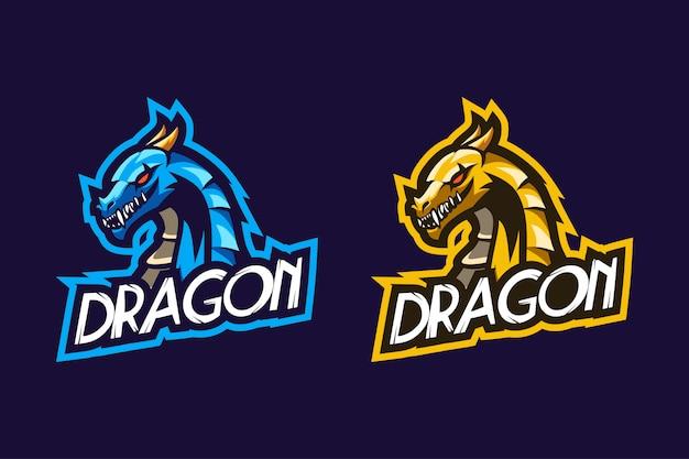 Fantastico design del logo esport di dragon