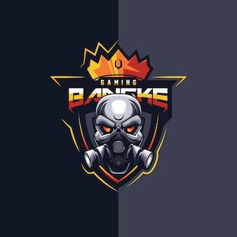 Fantastico design del logo esport di gioco