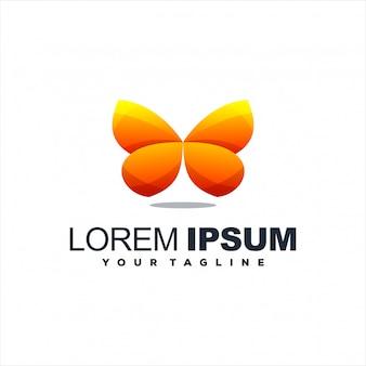 Fantastico design del logo farfalla sfumata
