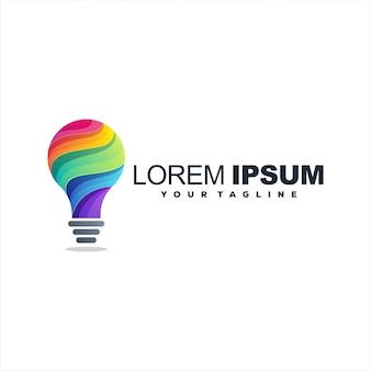 Fantastico design del logo sfumato della lampada
