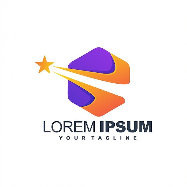 Fantastico design logo stella esagonale