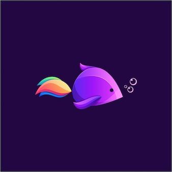 Fantastico logo colorato di pesce