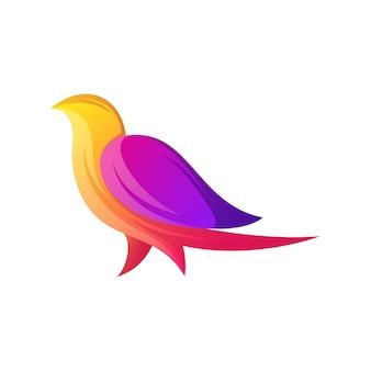 Fantastico logo colorato uccello