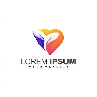 Fantastico logo design pianta d'amore