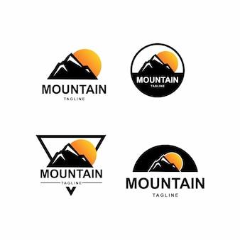Fantastico pacchetto logo montagna