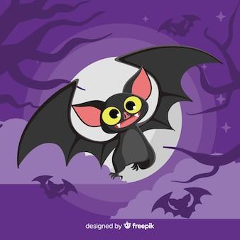 Fantastico pipistrello di halloween con design piatto