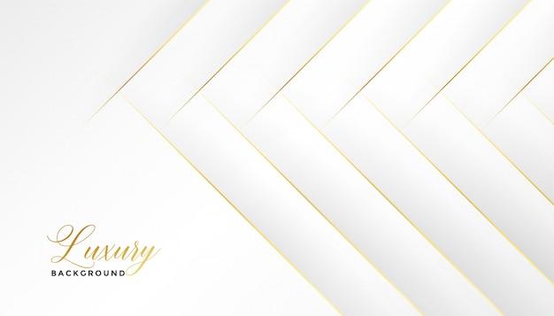 Fantastico sfondo bianco con linee dorate diagonali