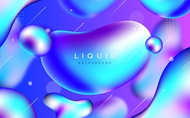 Fantastico sfondo con forme liquide