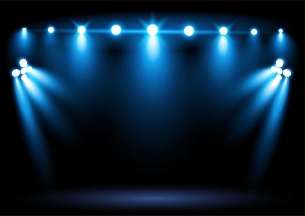 Faretto di illuminazione arena stadio blu brillante