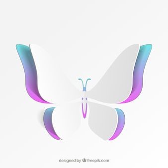 Farfalla colorata di carta