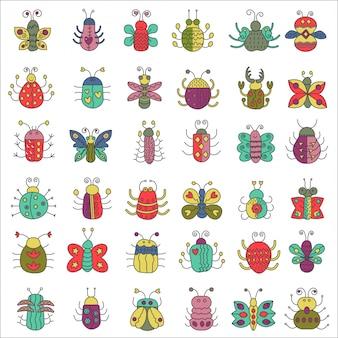 Farfalla, insetti insetti impostati