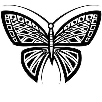 Farfalla tatuaggio tribale disegno vettoriale