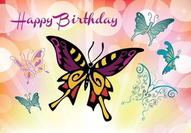 Farfalle colorate greeting card