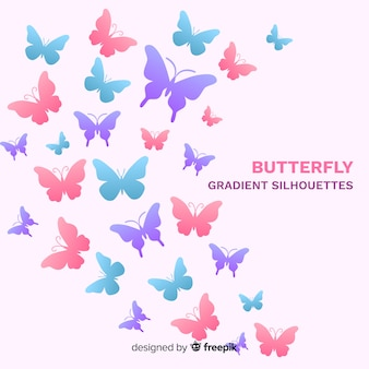 Farfalle di colore pastello battenti sfondo