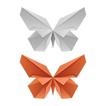 Farfalle giapponesi di carta vettoriale