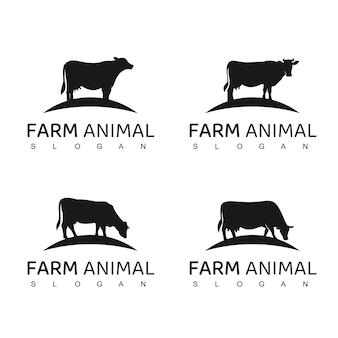 Farm animal logo illustrazione