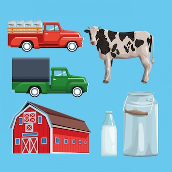 Farm set di cartoni animati