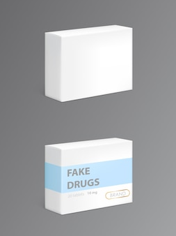 Farmaci falsi in confezione di cartone