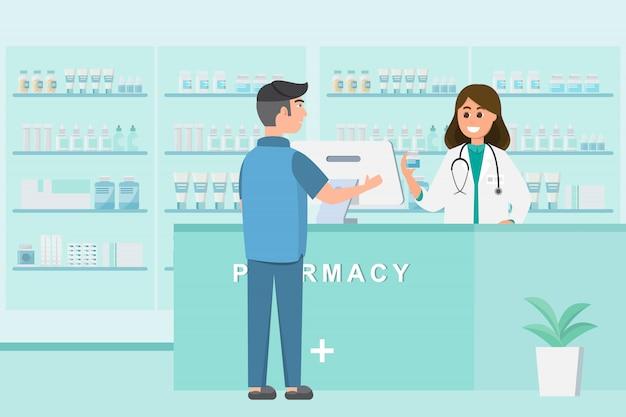 Farmacia con infermiere in cassa