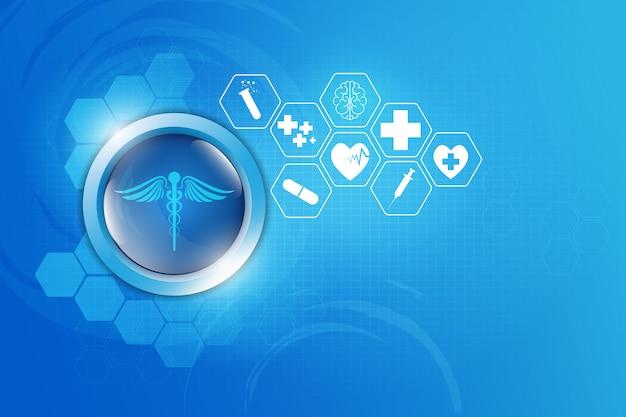 Farmacia medica di assistenza sanitaria astratta del fondo
